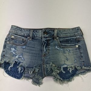 NWT american eagle distressed Shortie shorts